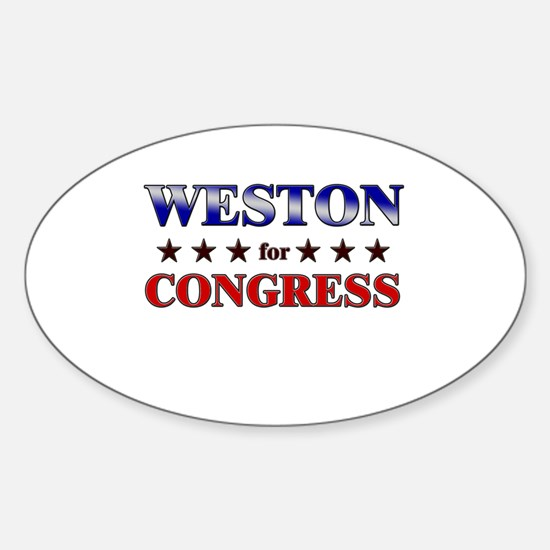 WESTON for congress Oval Decal