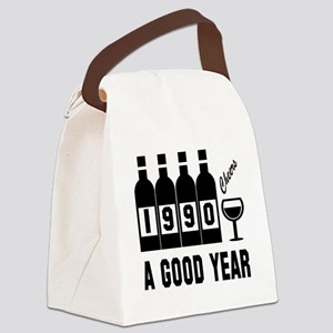 1990 A Good Year, Cheers Canvas Lunch Bag