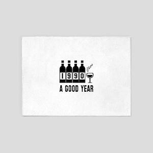 1990 A Good Year, Cheers 5'x7'Area Rug