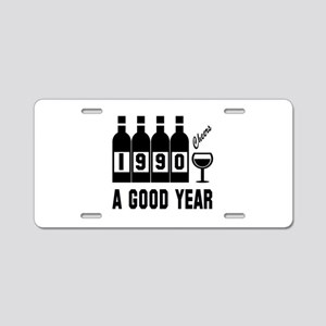 1990 A Good Year, Cheers Aluminum License Plate