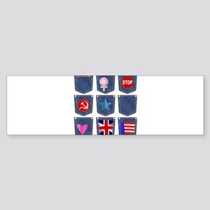 Jean Pocket Collection Bumper Sticker