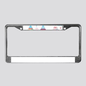 pink tipi License Plate Frame
