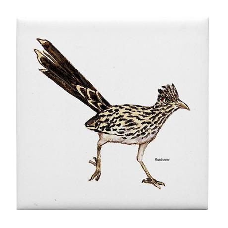 Roadrunner Bird Tile Coaster