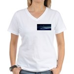 Saturn View Women's V-Neck T-Shirt