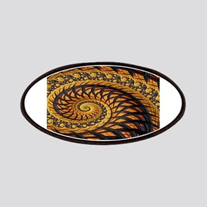 Black and Yellow Spiral Fractal Patch