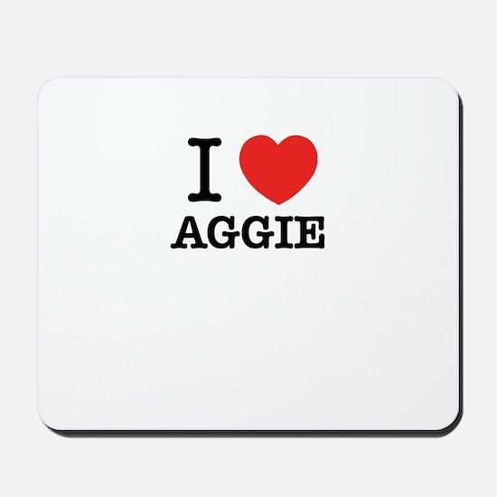 I Love AGGIE Mousepad