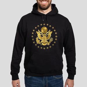 Gold Presidential Seal, The White Ho Hoodie (dark)
