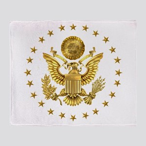 Gold Presidential Seal, The White Ho Throw Blanket