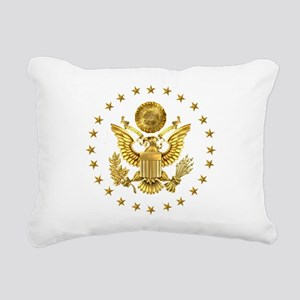 Gold Presidential Seal, Rectangular Canvas Pillow