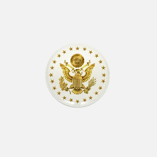 Gold Presidential Seal, The White Hous Mini Button