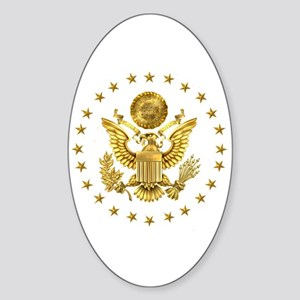 Gold Presidential Seal, The White H Sticker (Oval)