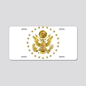 Gold Presidential Seal, The Aluminum License Plate