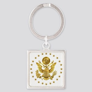 Gold Presidential Seal, The White Square Keychain