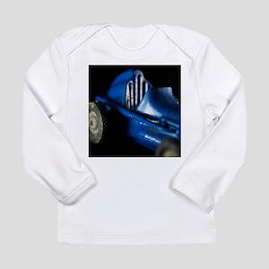 Old Blue Racing Car Long Sleeve Infant T-Shirt
