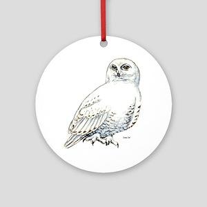 Snowy Owl Bird Keepsake (Round)