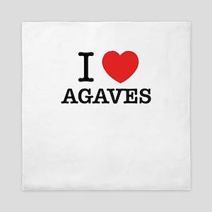 I Love AGAVES Queen Duvet
