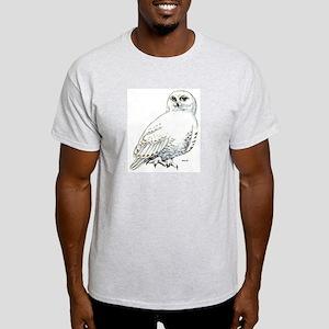 Snowy Owl Bird (Front) Ash Grey T-Shirt