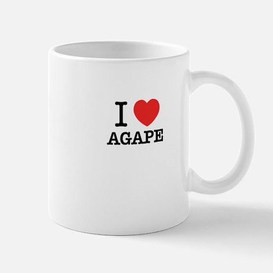 I Love AGAPE Mugs