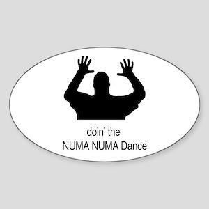 Doin' The Numa Numa Dance Oval Sticker