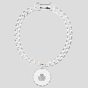 10 Awesome Birthday Desi Charm Bracelet, One Charm