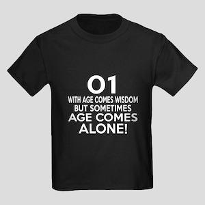 1 Awesome Birthday Designs Kids Dark T-Shirt