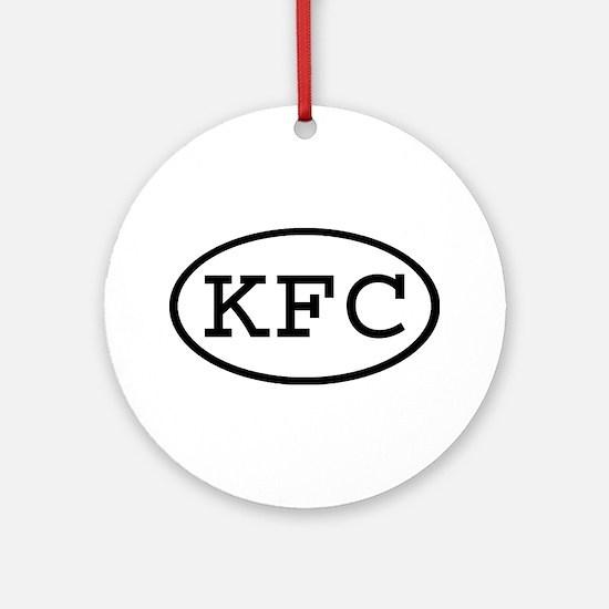 KFC Oval Ornament (Round)