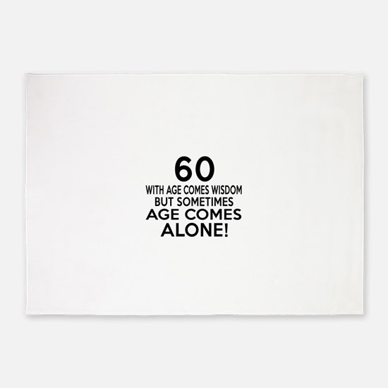 60 Awesome Birthday Designs 5'x7'Area Rug