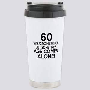 60 Awesome Birthday Des Stainless Steel Travel Mug