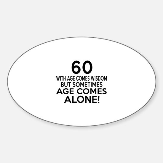 60 Awesome Birthday Designs Sticker (Oval)