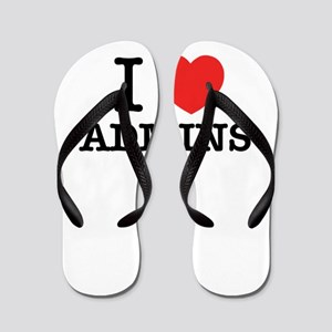 I Love ADMINS Flip Flops