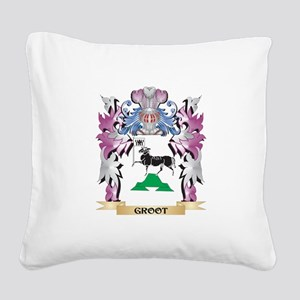 Groot Coat of Arms (Family Cr Square Canvas Pillow