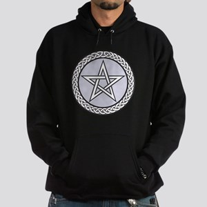Pagan Star With Celtic Knot Hoodie (dark)