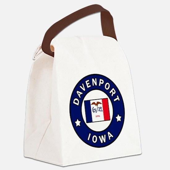 Cute Iowa hawkeyes Canvas Lunch Bag