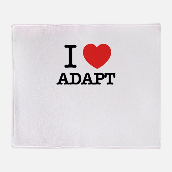I Love ADAPT Throw Blanket
