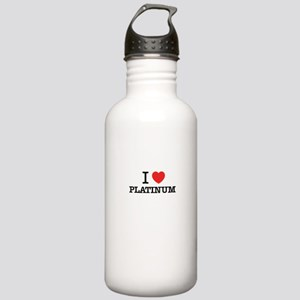 I Love PLATINUM Stainless Water Bottle 1.0L