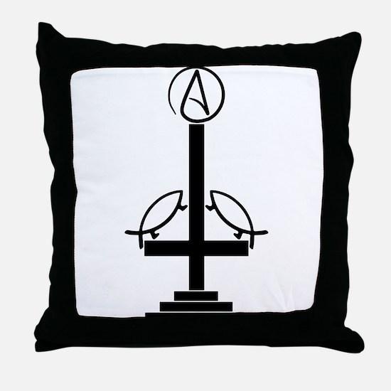 Anti-Theist Cross Throw Pillow