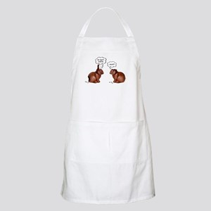 Chocolate Easter Bunnies BBQ Apron