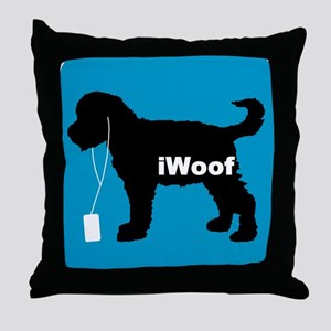 iWoof Schnoodle Throw Pillow