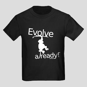 Evolve Already! Monkey Kids Dark T-Shirt