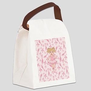 Cute Ballerina Canvas Lunch Bag