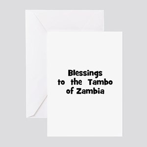 Blessings  to  the  Tambo of  Greeting Cards (Pk o