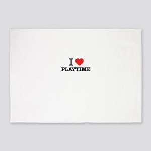 I Love PLAYTIME 5'x7'Area Rug