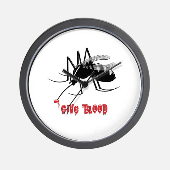 Cute Mosquitoes Wall Clock