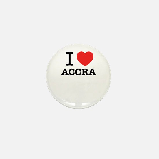 I Love ACCRA Mini Button