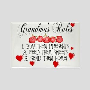 Grandma's Rules Rectangle Magnet