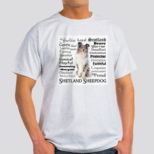 Blue Merle Sheltie Traits T-Shirt