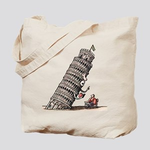 Leaning Tower Teaches Italian Language to Tote Bag