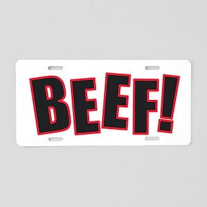 Beef Aluminum License Plate