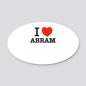 I Love ABRAM Oval Car Magnet