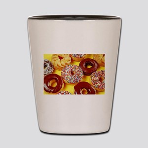 Assorted delicious donuts Shot Glass